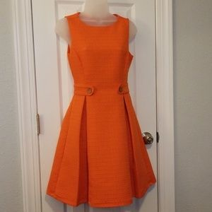 Modcloth tangerine mod dress